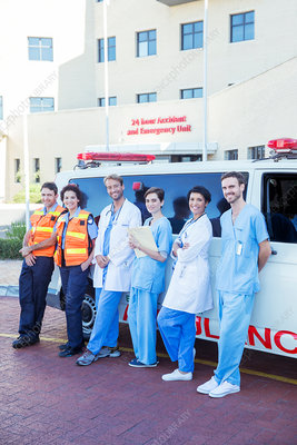 Doctors, nurses and paramedics