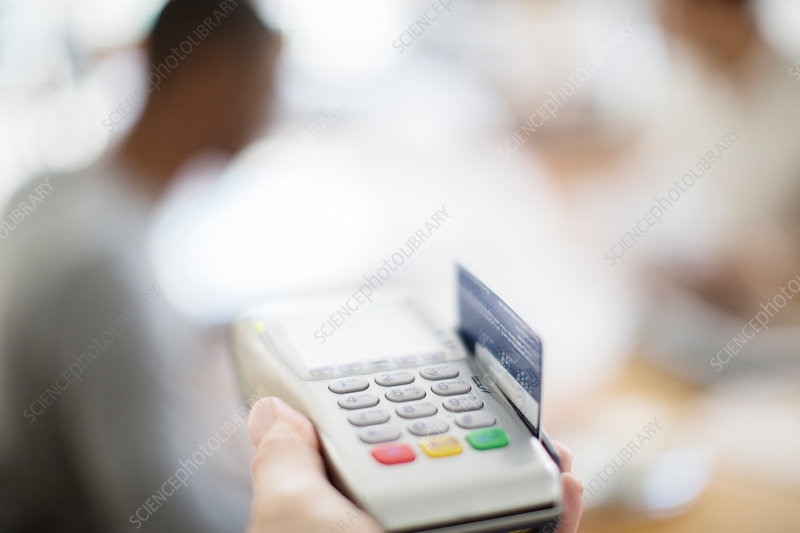 Credit card being swiped