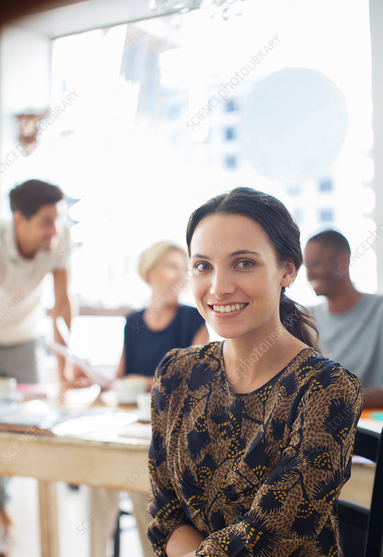 Businesswoman sitting in cafe