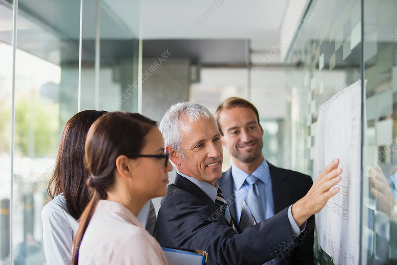Business people discussing documents