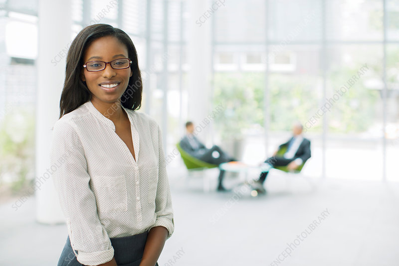 Businesswoman in office building