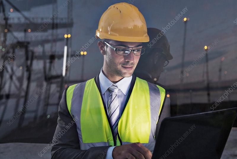 Businessman wearing protective workwear
