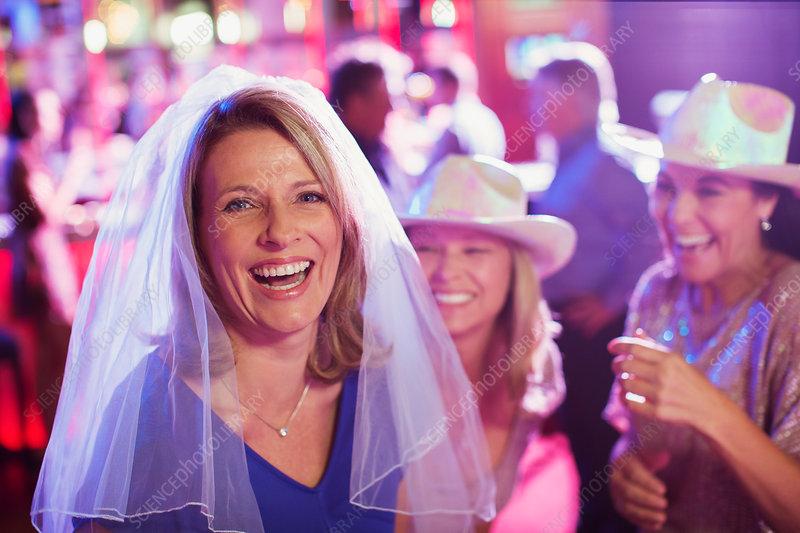 Women having fun at bachelorette party