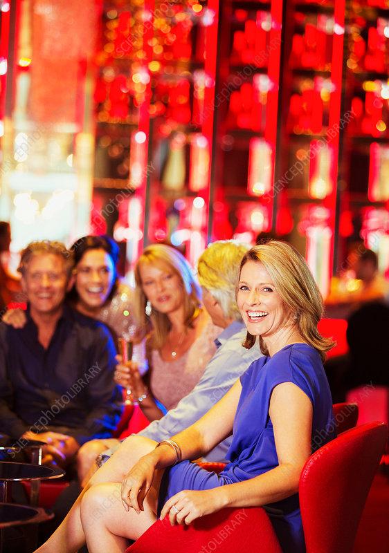 Mature people having fun in nightclub