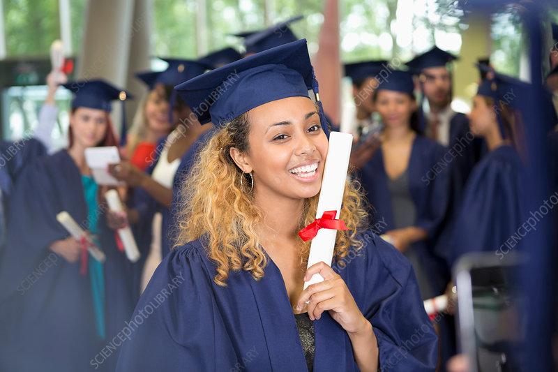 Student after graduation ceremony