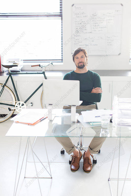 Portrait of man sitting