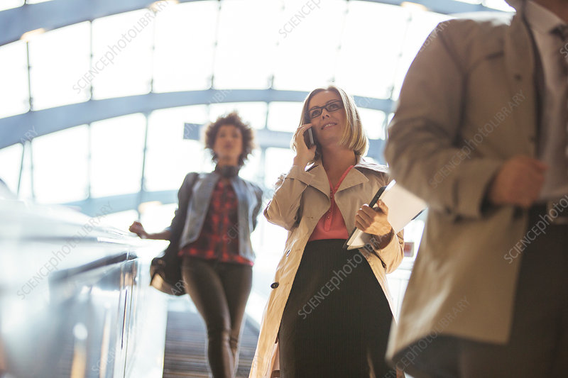 Low angle view of business people