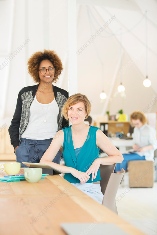 Office workers at desk