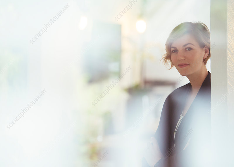 Portrait of young woman at office