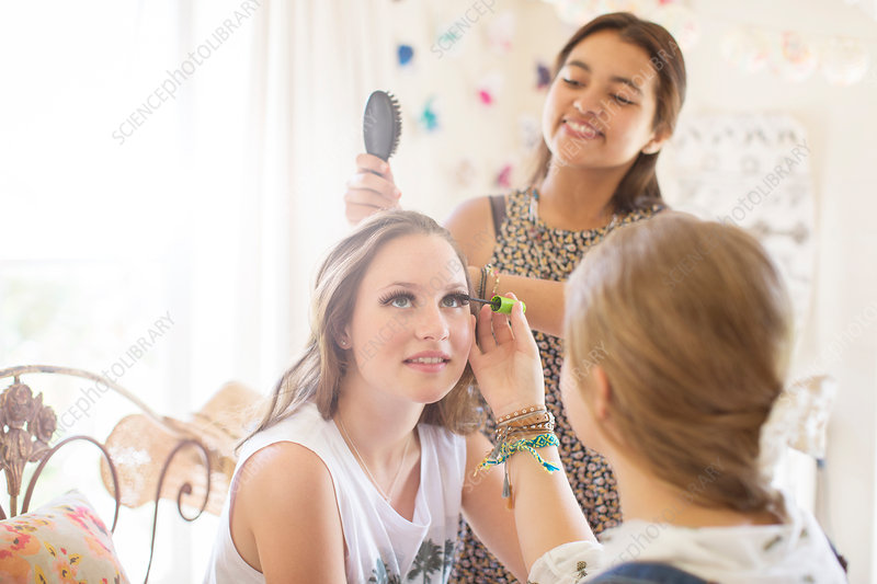 Girls doing make-up