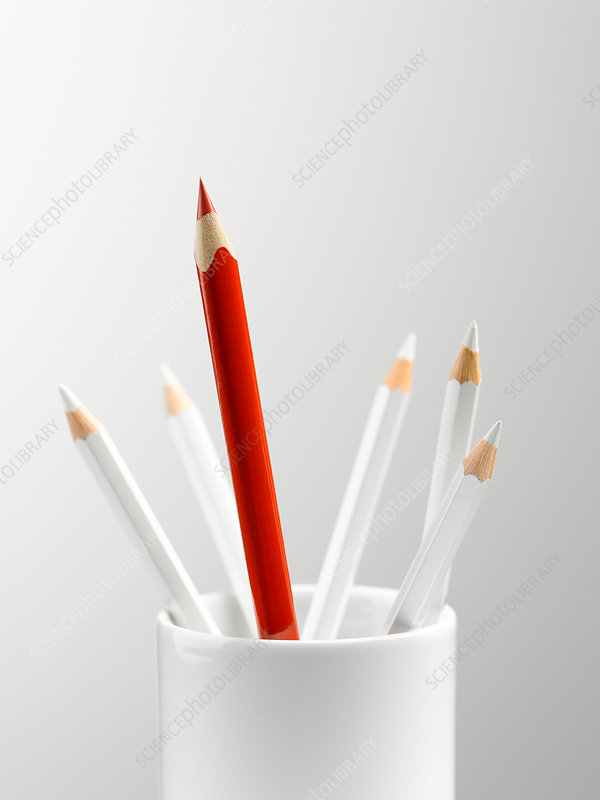 Tall red pencil