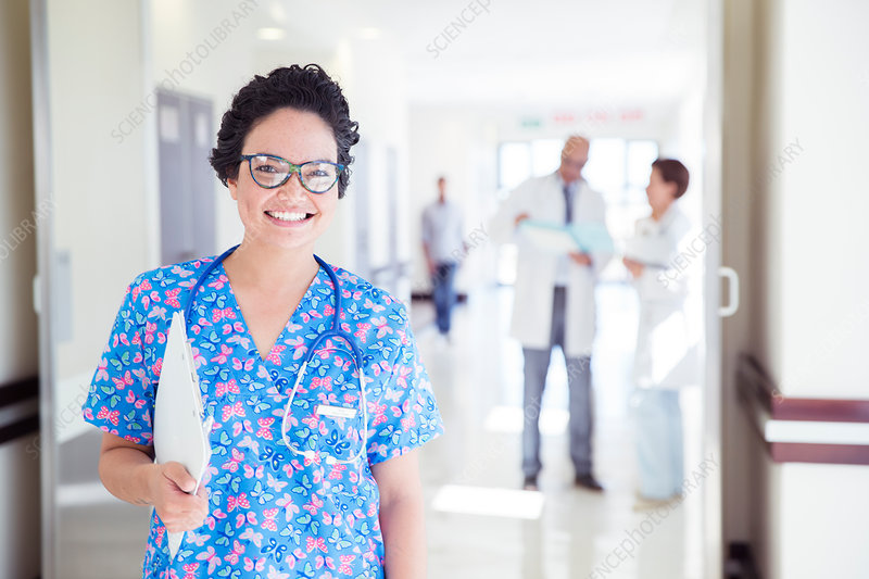 Portrait of smiling nurse