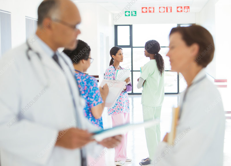 Doctors and nurses talking