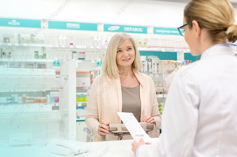 Customer giving prescription