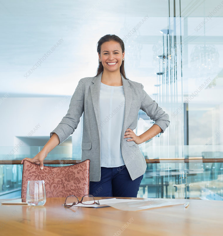 Businesswoman in conference room