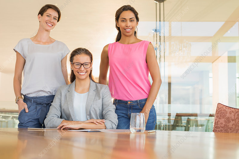 Businesswomen in conference room