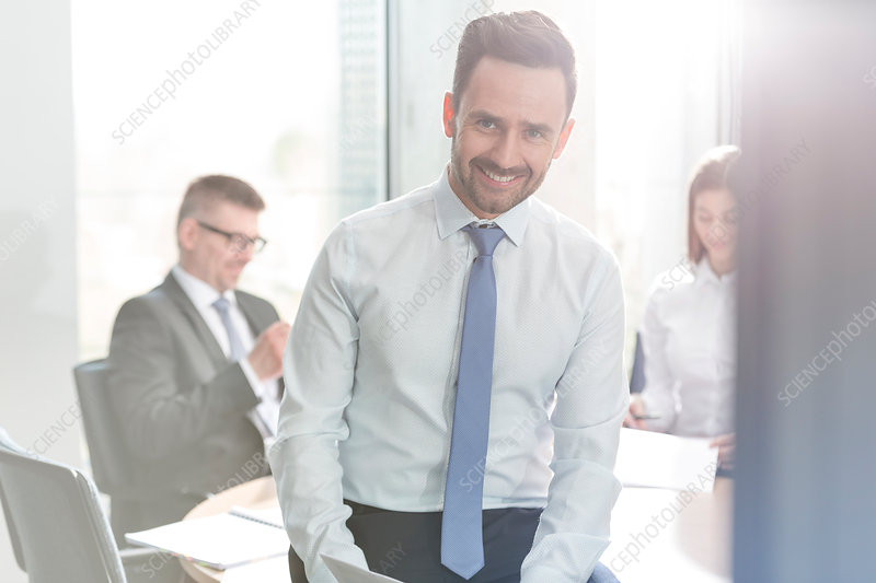 Businessman in conference room meeting