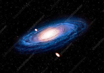 Artwork of Andromeda Galaxy