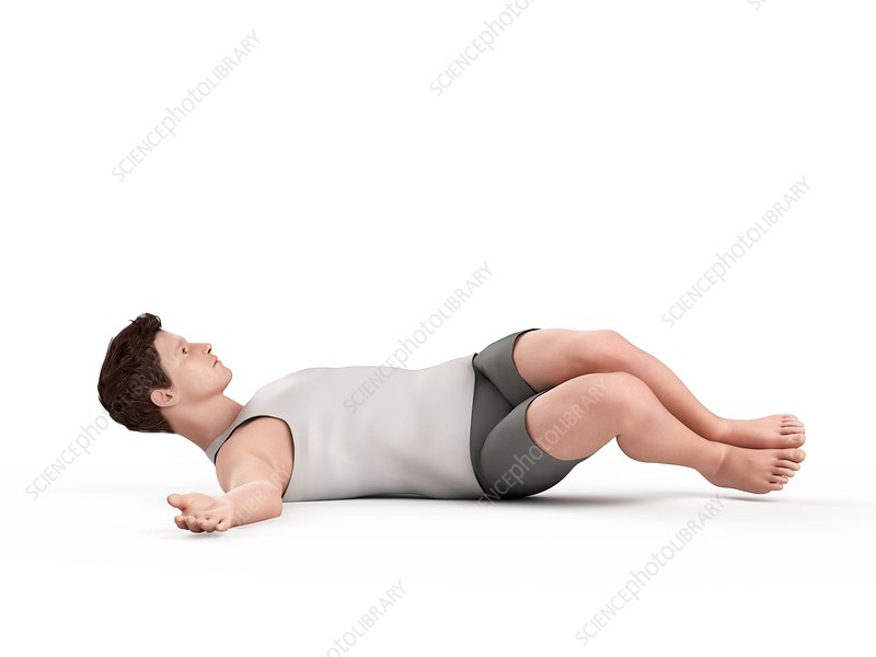 Person stretching on floor