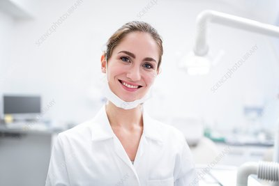 Close-up of dentist