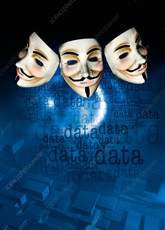 Internet activist masks
