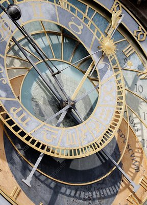 Clock face, close up