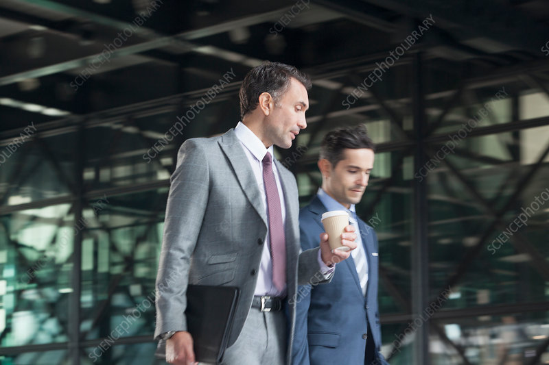 Businessmen with coffee