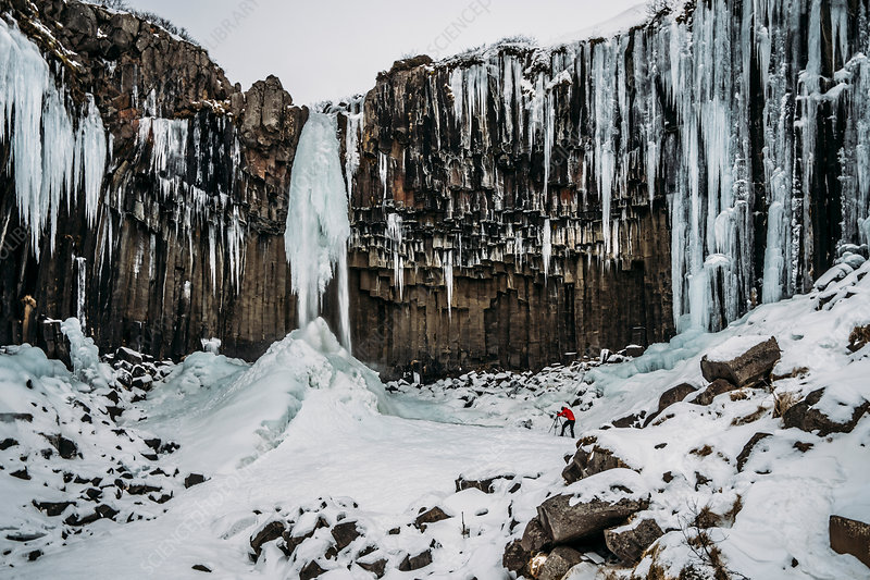 Icicle formations, Iceland