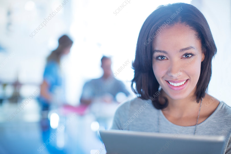 Close up Businesswoman with tablet