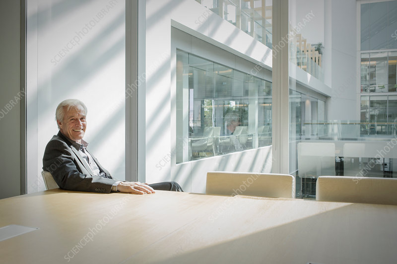 Senior businessman in conference room