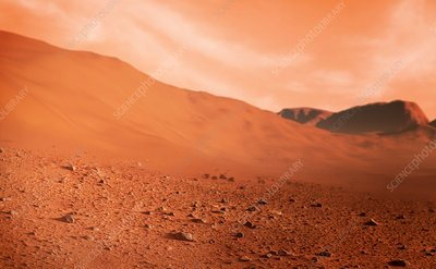 Artwork of the surface of Mars