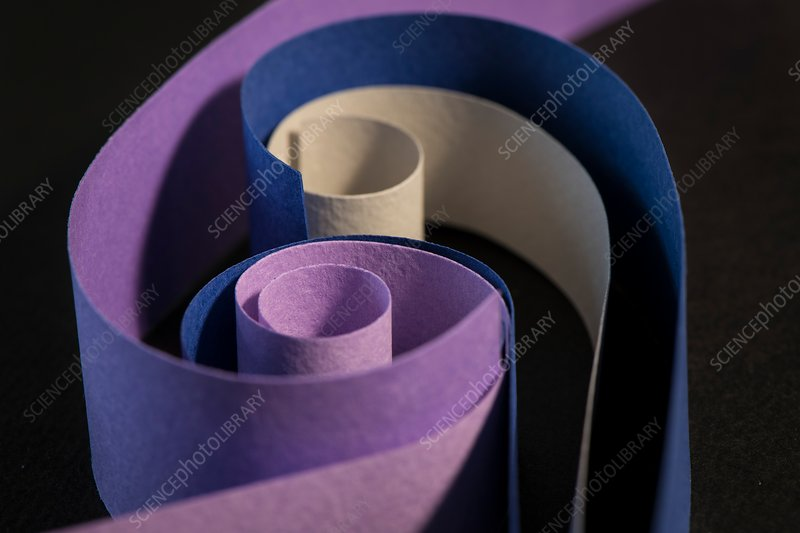 Colourful strips of cardboard