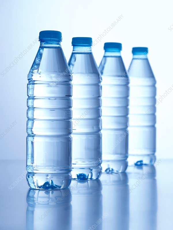 Four bottles of mineral water