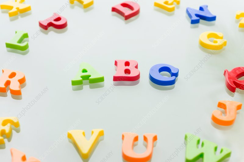 Colourful letters of the alphabet, studio shot