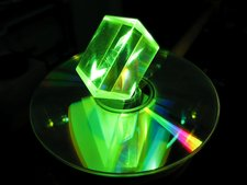 Glass prism and laser