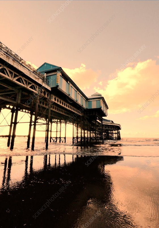 Pier with sea, Blackpool, UK