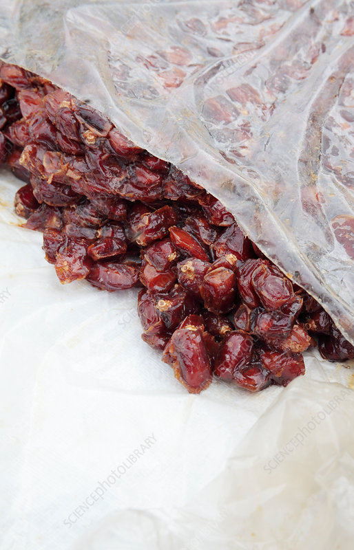 Dates from the date palm in market
