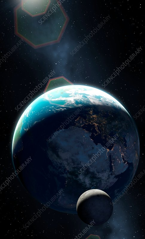Earth at Night - Africa and Europe