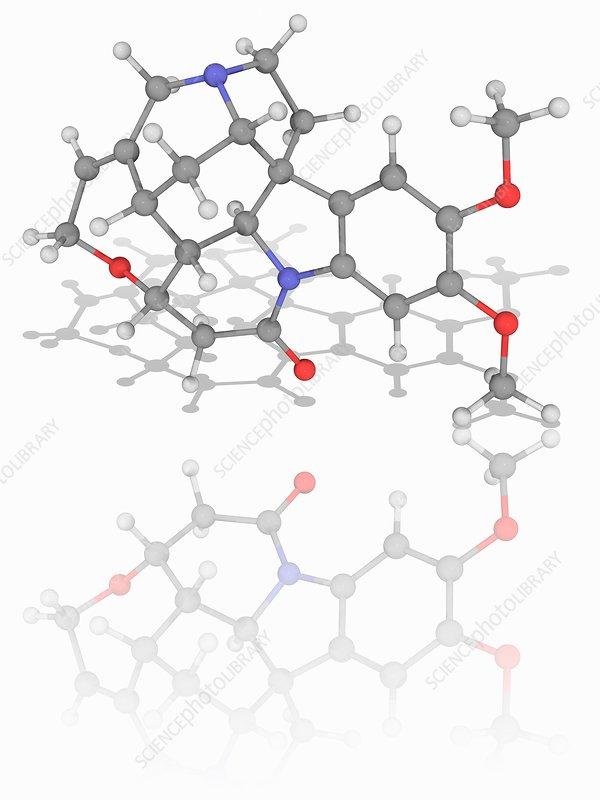Brucine organic compound molecule
