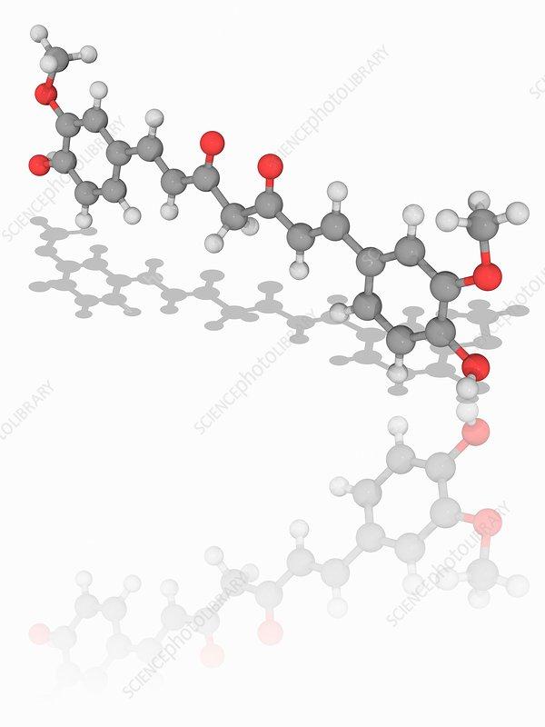 Curcumin organic compound molecule