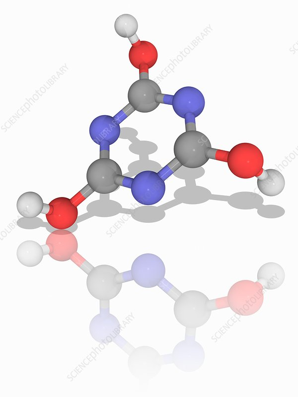 Cyanuric acid organic compound molecule