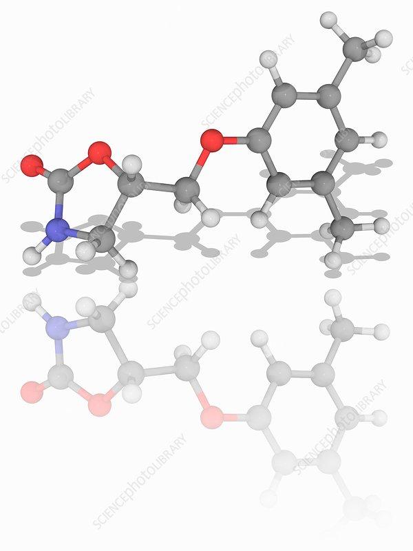 Metaxalone drug molecule