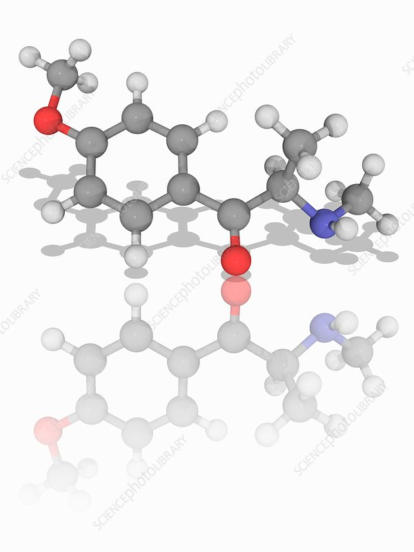Methedrone (methoxyphedrine) drug molecule