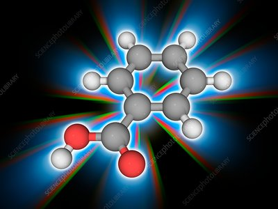 Benzoic acid organic compound molecule