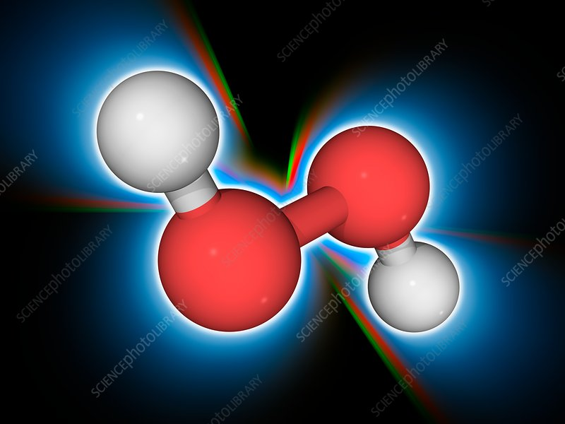 Hydrogen peroxide chemical compound molecule