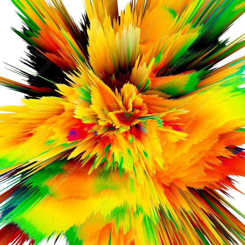 Abstract burst, artwork