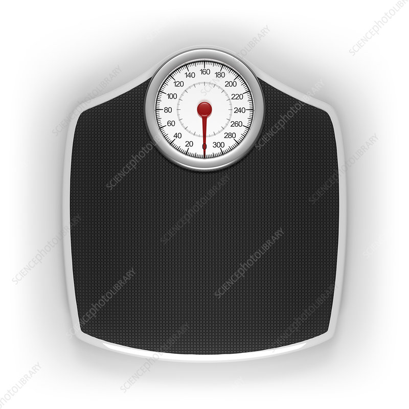 Weighing scales, illustration