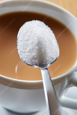 Spoonful of sugar and hot drink
