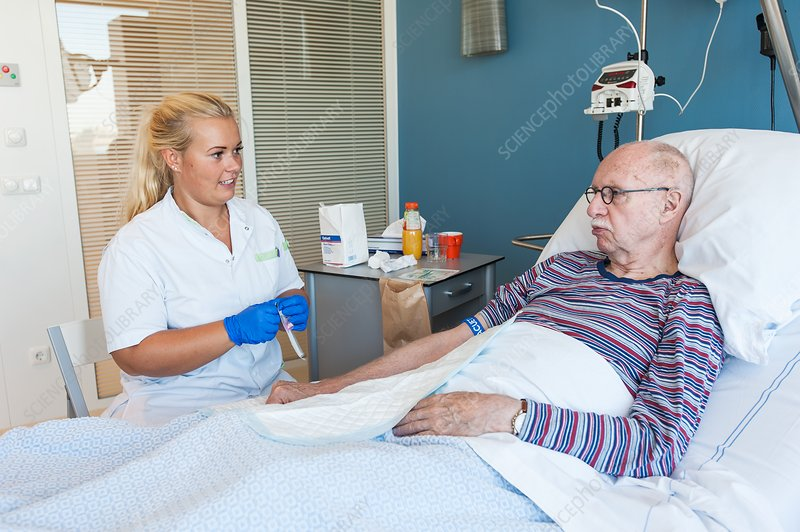 Patient with female nurse