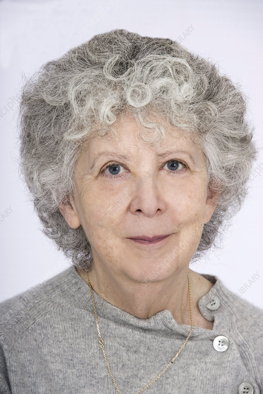Portrait of woman with grey hair